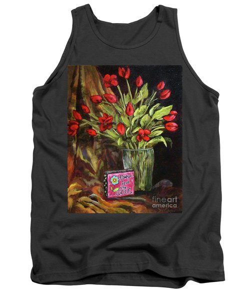 Flowers Feed The Soul Tank Top