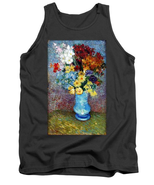 Tank Top featuring the painting Flowers In A Blue Vase  by Van Gogh