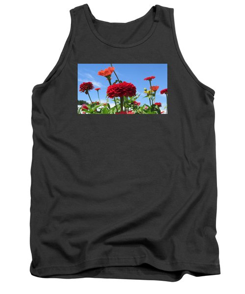 Tank Top featuring the photograph Flowers In The Blue by Jeanette Oberholtzer