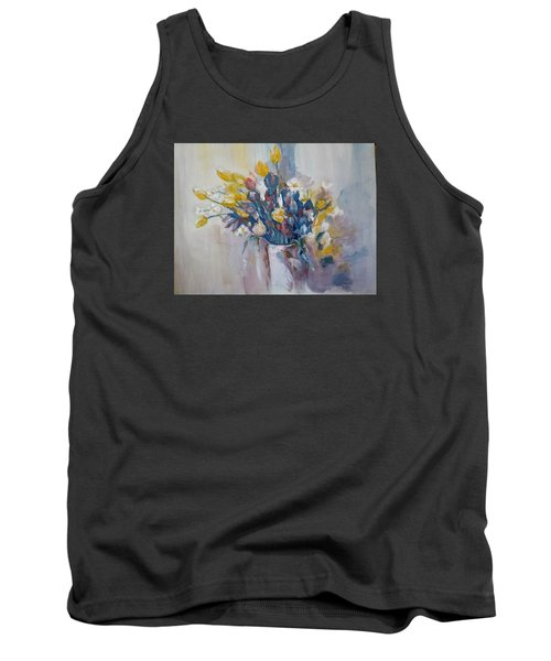 Tulips Flowers Tank Top by Khalid Saeed