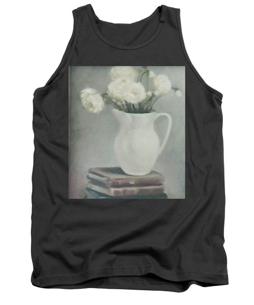 Flowers On Old Books Tank Top