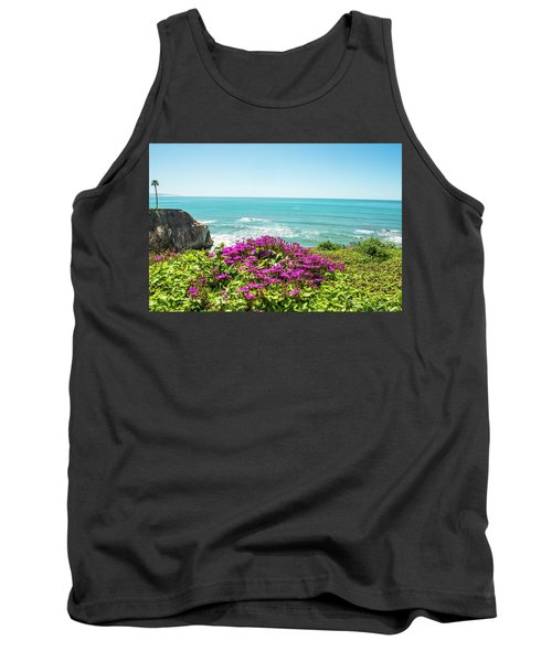 Flowers On The Cliff Tank Top