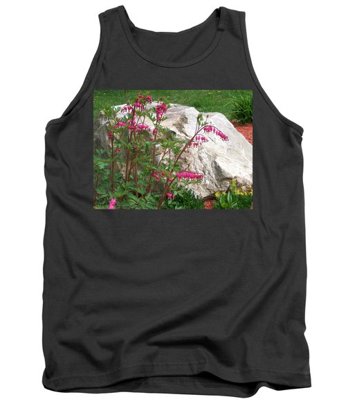 Tank Top featuring the digital art Flowers On The Rocks by Barbara S Nickerson