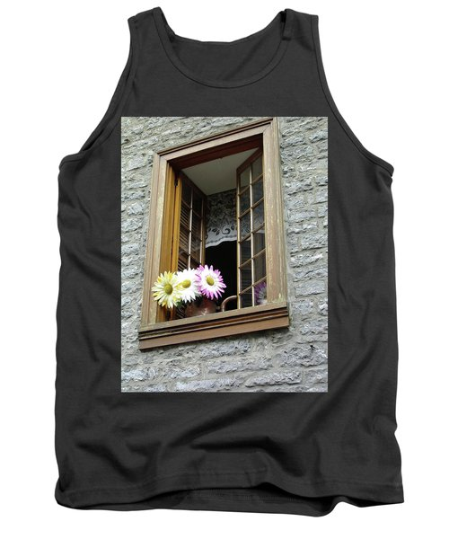Tank Top featuring the photograph Flowers On The Sill by John Schneider