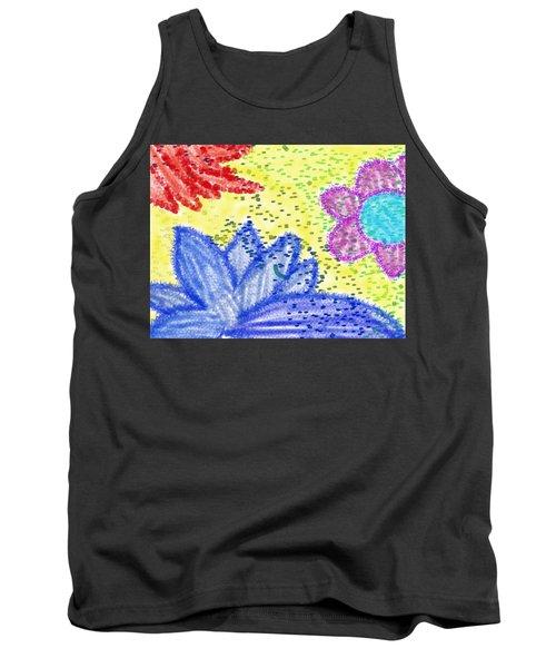 Flowery Lotus Tank Top