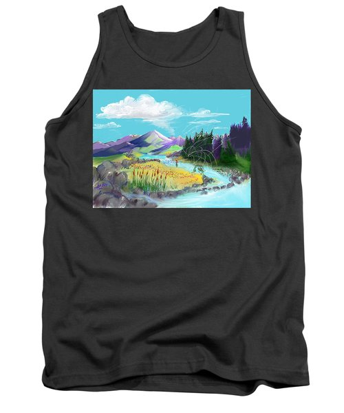 Fly Fishing With Aa Wooly Worm. Tank Top
