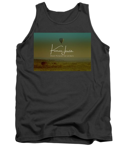 Tank Top featuring the photograph Flying High On The Masai Mara by Karen Lewis