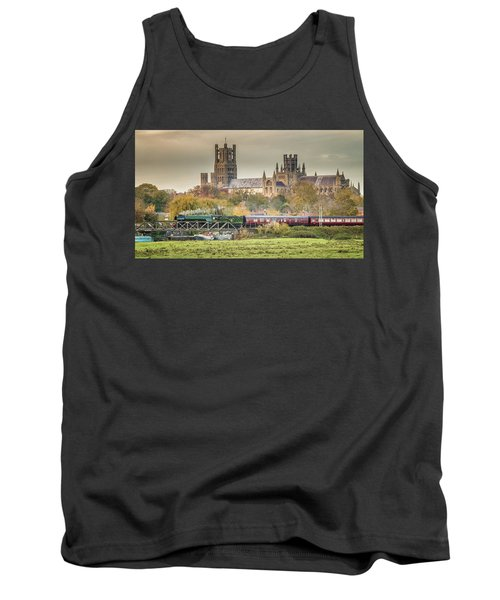 Tank Top featuring the photograph Flying Scotsman At Ely by James Billings