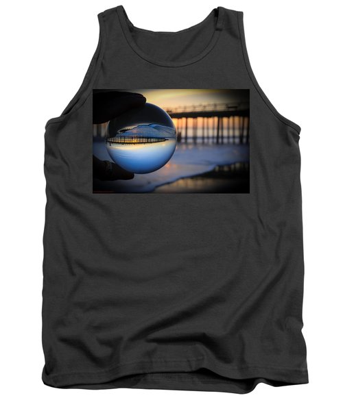 Tank Top featuring the photograph Foamy Ball by Lora Lee Chapman