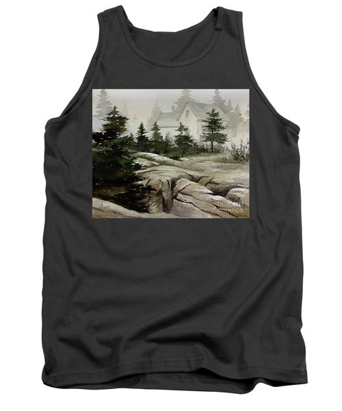 Tank Top featuring the painting Fog At The Coast by James Williamson