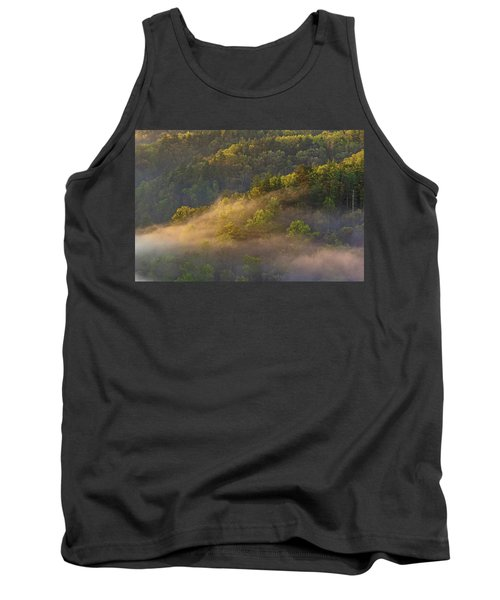 Fog Playing In The Forest Tank Top by Ulrich Burkhalter