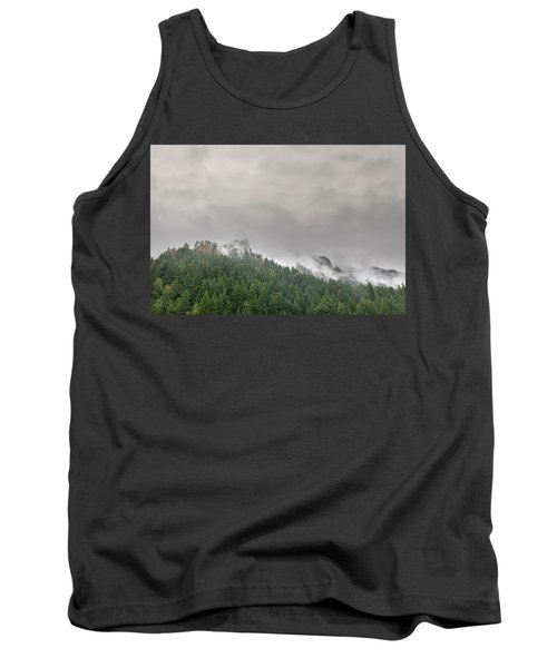 Fog Rolling Over Columbia River Gorge Tank Top