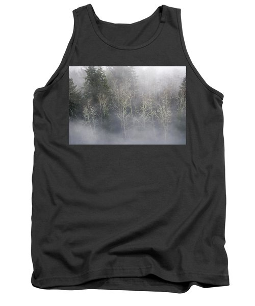 Foggy Alders In The Forest Tank Top