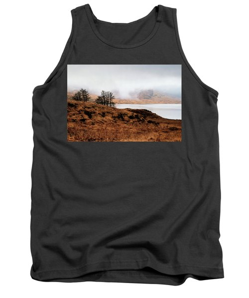 Foggy Day At Loch Arklet Tank Top by Jeremy Lavender Photography