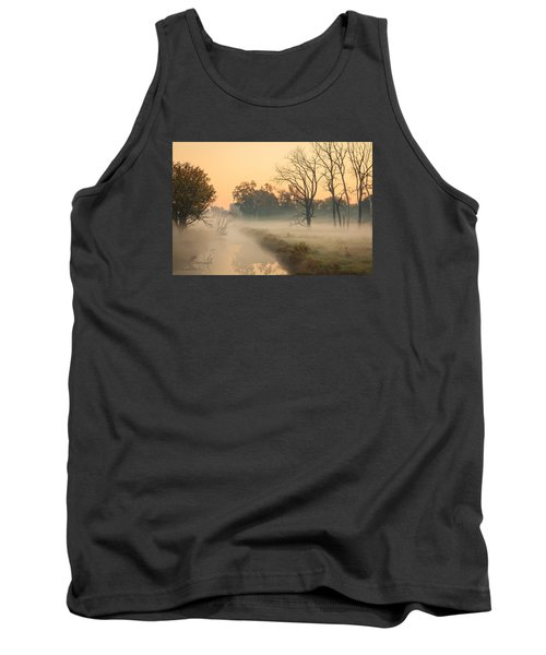 Foggy Fall Morning On Gary Avenue Tank Top