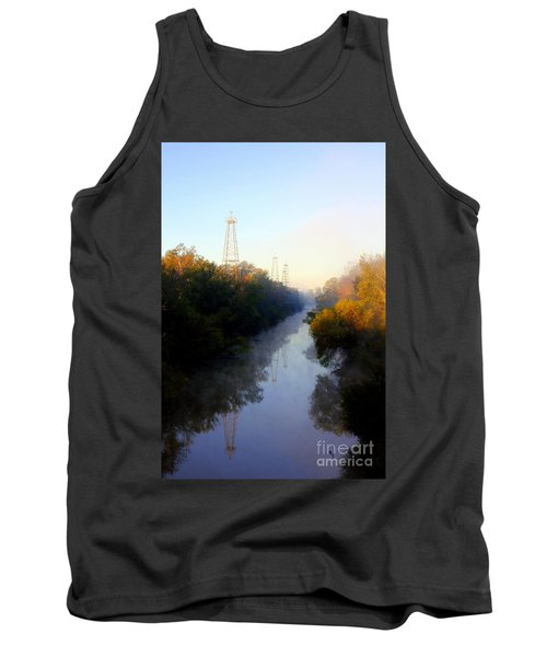 Foggy Fall Morning On The Sabine River Tank Top