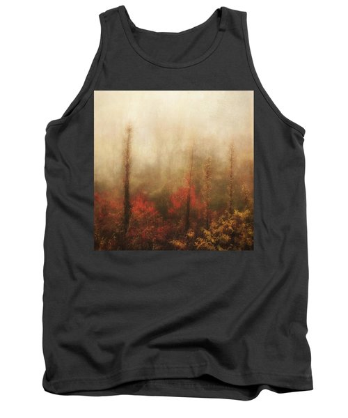 Foggy Fall On The Parkway Tank Top