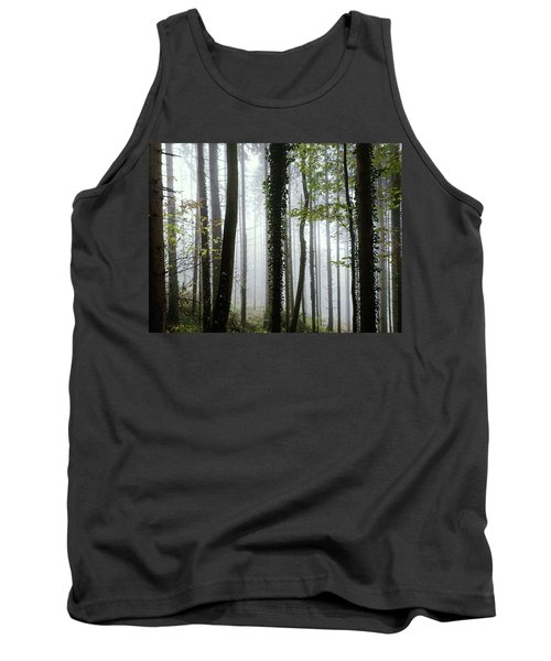 Foggy Forest Tank Top by Chevy Fleet