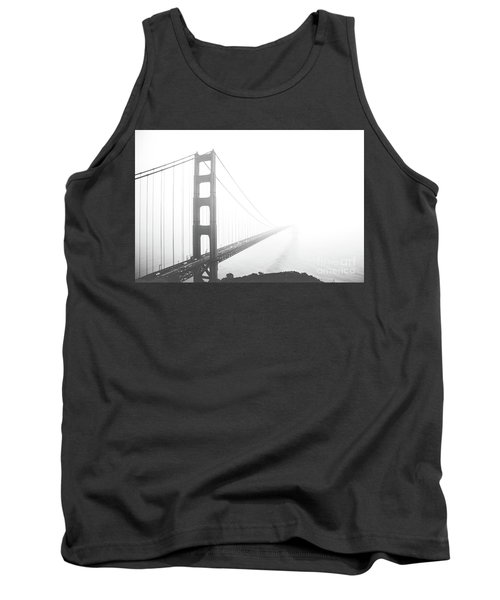Tank Top featuring the photograph Foggy Golden Gate Bridge  by MGL Meiklejohn Graphics Licensing