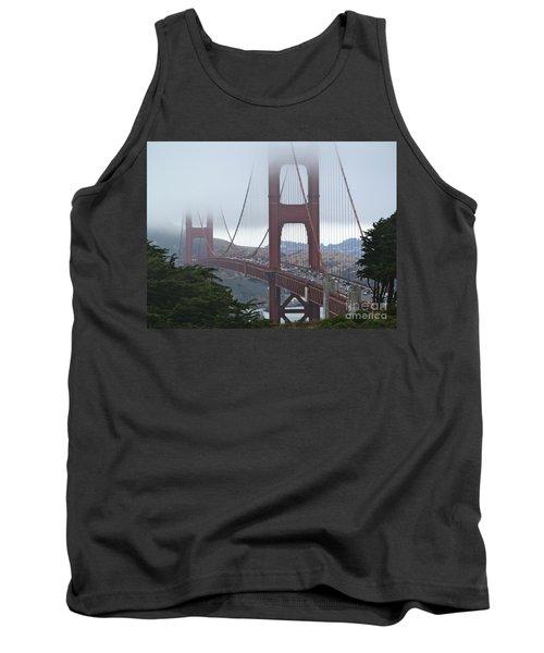 Foggy Golden Gate Tank Top by Margaret Brooks