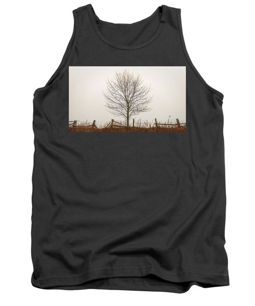 Foggy Lone Tree Hill Tank Top