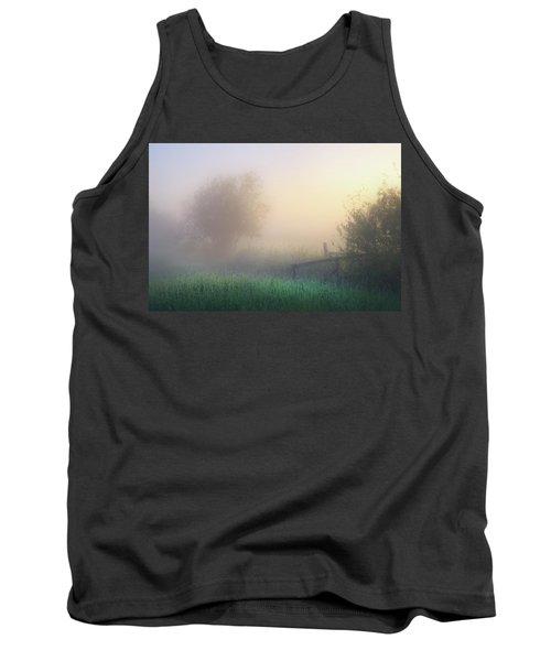 Tank Top featuring the photograph Foggy Morning by Dan Jurak