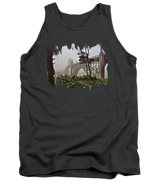 A Foggy Morning On Yaquina Bay Tank Top