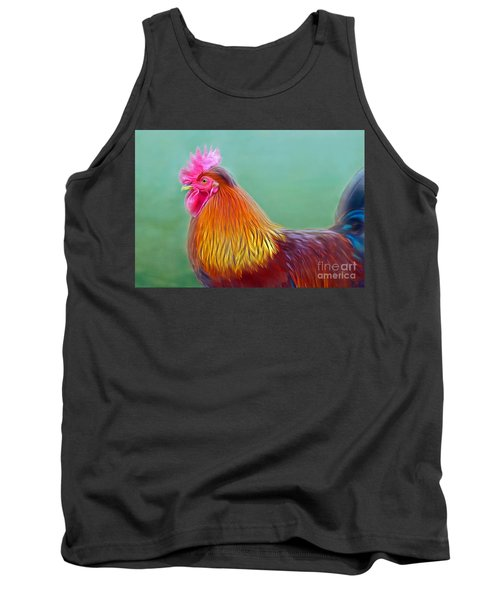 Foggy Morning Rooster Tank Top