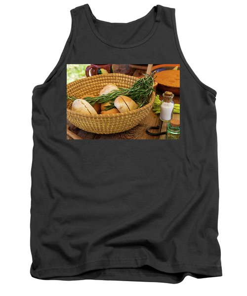 Food - Bread - Rolls And Rosemary Tank Top by Mike Savad
