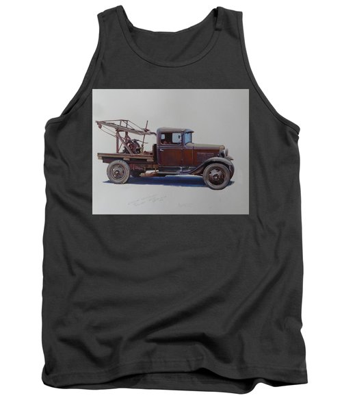 Tank Top featuring the painting Ford A Type Wrecker. by Mike  Jeffries