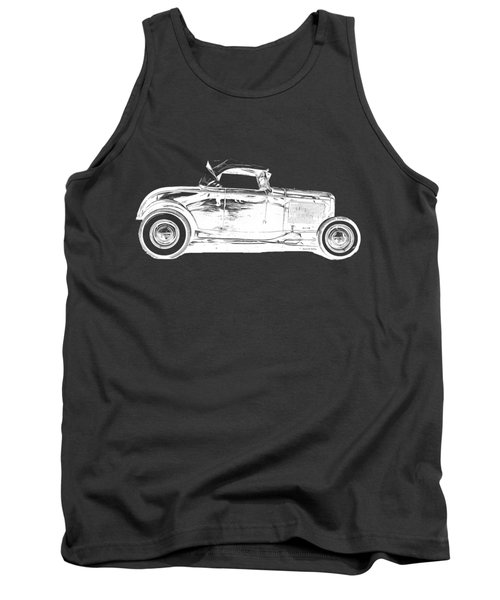 Ford Hot Rod Invert White Ink Tee Tank Top