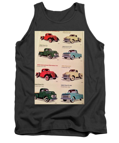 Ford Truck Stamps Tank Top by Caroline Stella