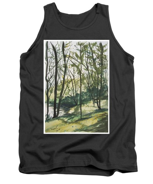 Forest By The Lake Tank Top by Manuela Constantin