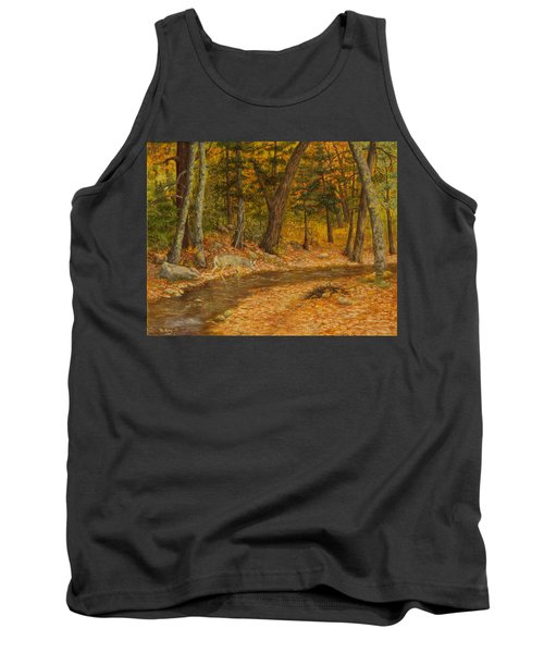 Tank Top featuring the painting Forest Life by Roena King