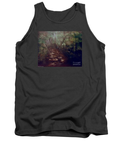 Tank Top featuring the painting Forest Rays by Denise Tomasura