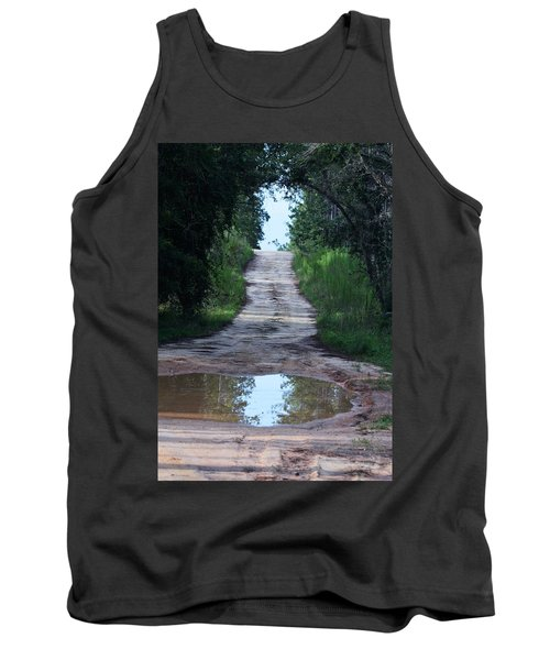 Forest Road And Puddle Tank Top