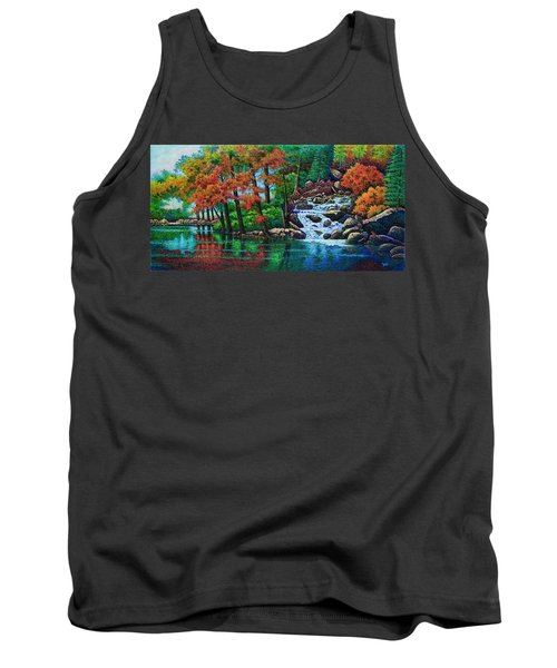 Forest Stream II Tank Top by Michael Frank
