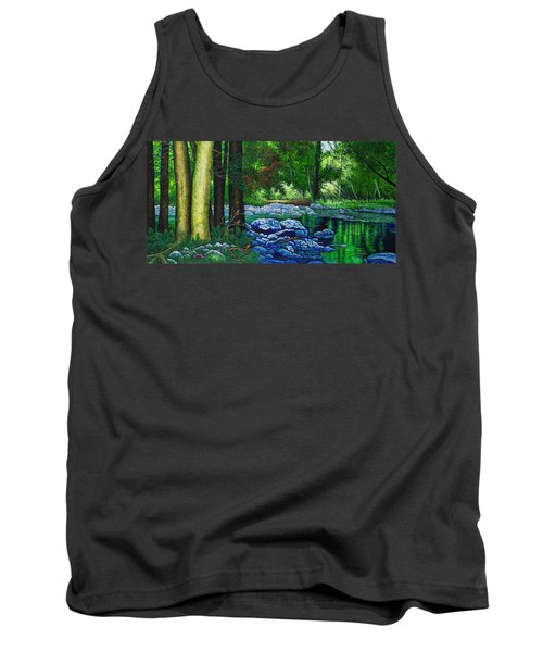 Forest Stream Tank Top by Michael Frank