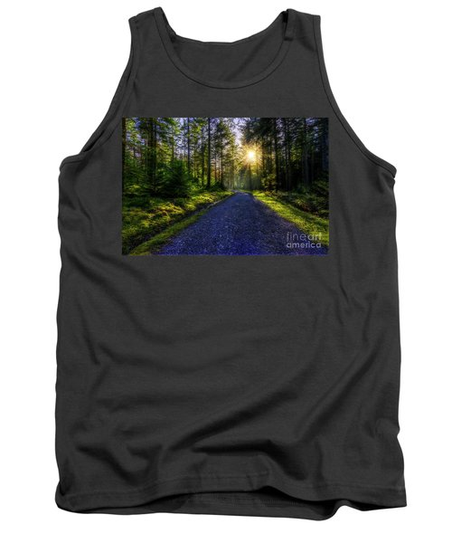 Tank Top featuring the photograph Forest Sunlight by Ian Mitchell