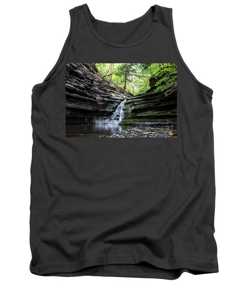 Tank Top featuring the photograph Forest Waterfall by MGL Meiklejohn Graphics Licensing