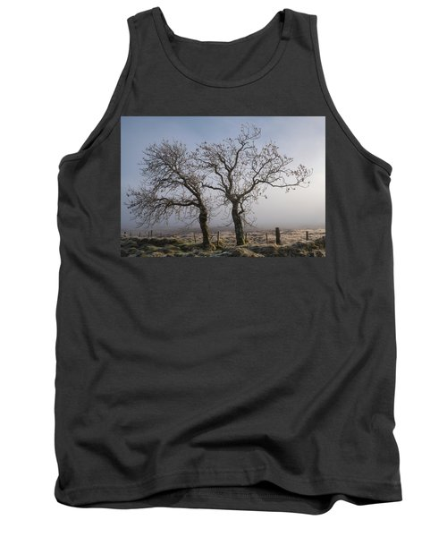 Tank Top featuring the photograph Forever Buddies Facing The Fog by Jeremy Lavender Photography
