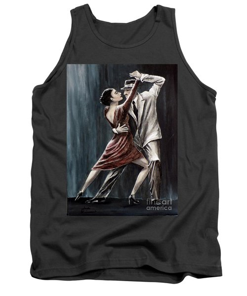 Tank Top featuring the painting Forever Tango by Judy Kirouac