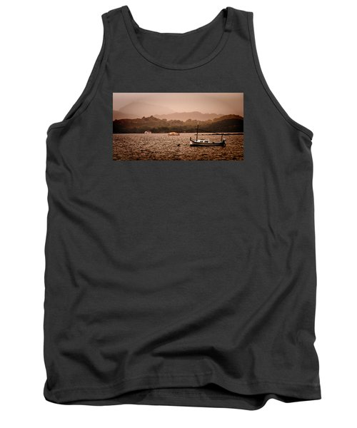 Fornells Bay In Menorca Island - Even Most Beautiful Places Have Secrets To Hide By Pedro Cardona Tank Top