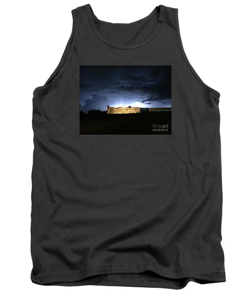 Lightening At Castillo De San Marco Tank Top
