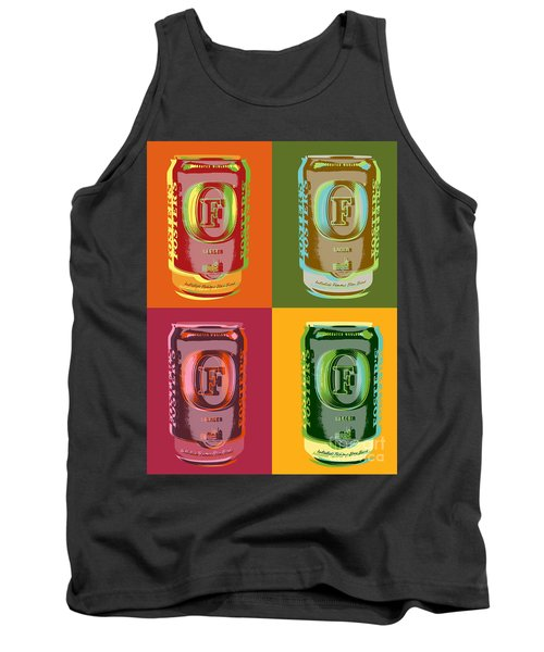 Tank Top featuring the digital art Foster's Lager Pop Art by Jean luc Comperat