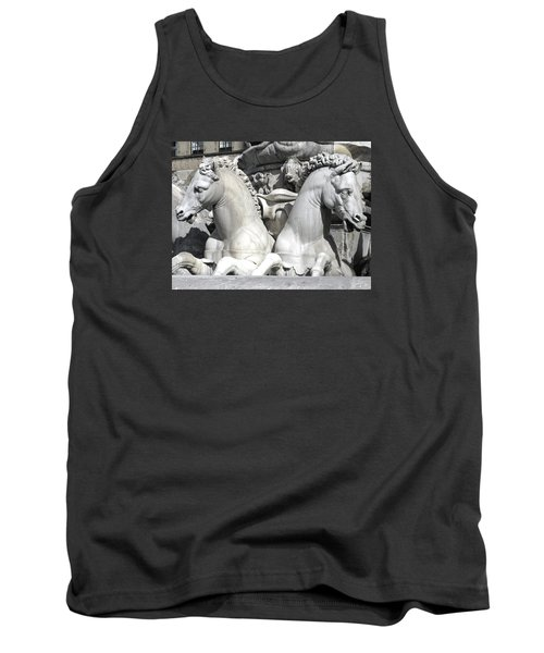 Fountain Of Neptune Florence Tank Top by Lisa Boyd