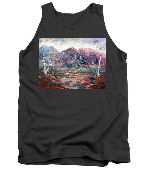 Tank Top featuring the painting Fountain Springs Outback Australia by Ryn Shell