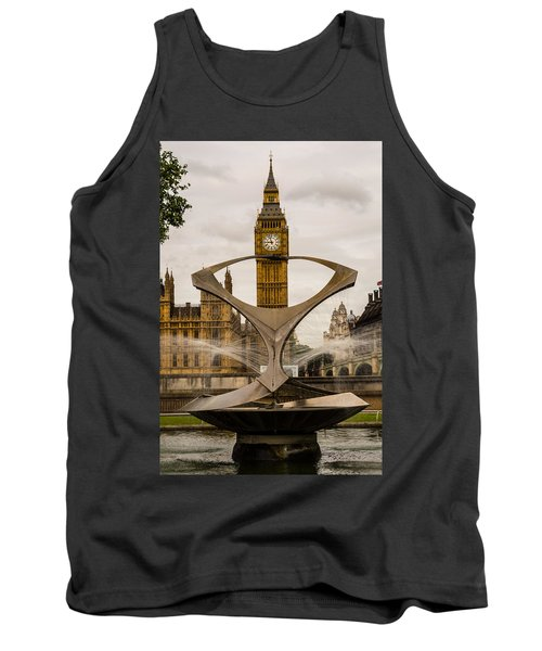Fountain With Big Ben Tank Top