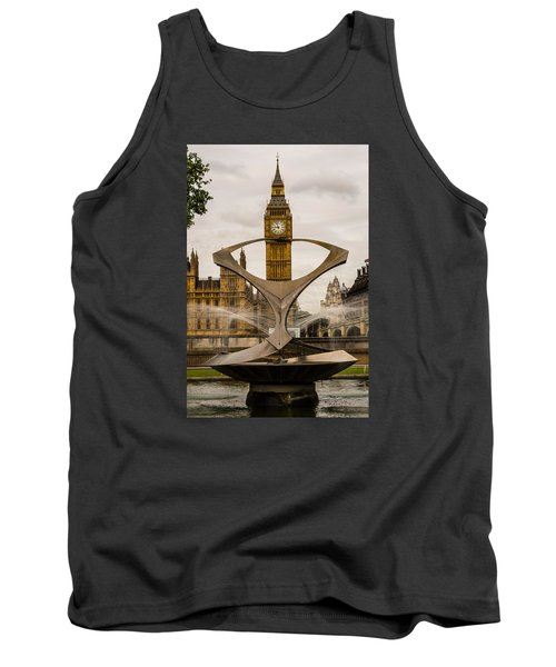 Fountain With Big Ben Tank Top