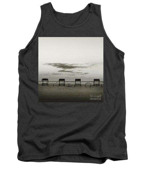Four On The Beach Tank Top by Sebastian Mathews Szewczyk